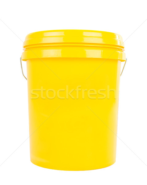 Industriële olie smeermiddel product Geel plastic Stockfoto © yongtick