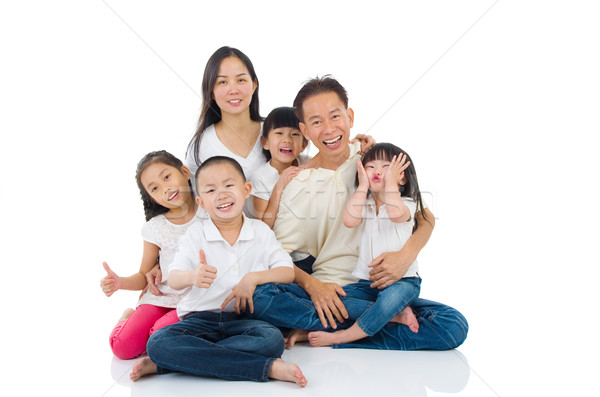 Asian familie vrouw gelukkig kind Stockfoto © yongtick