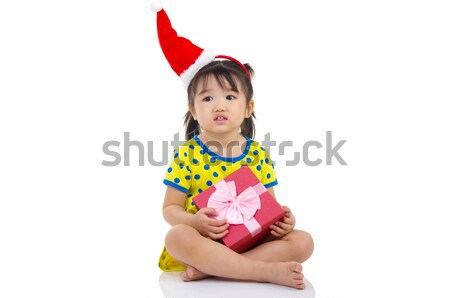 Asiático menina pequeno seis natal Foto stock © yongtick