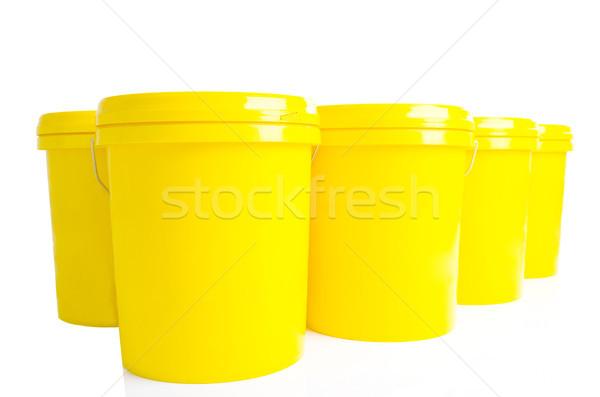 Industrial Óleo lubrificante produto amarelo plástico Foto stock © yongtick