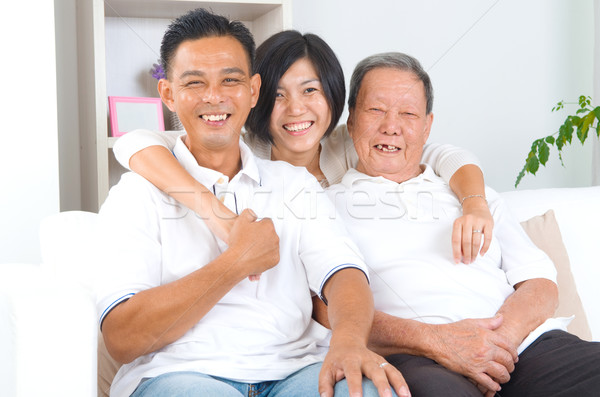 アジア 家族 シニア 父 成人 ストックフォト © yongtick