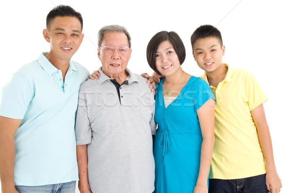アジア 3  世代 家族 肖像 ストックフォト © yongtick