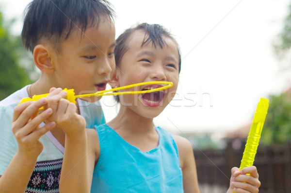 アジア 子供 屋外 少女 子 ストックフォト © yongtick