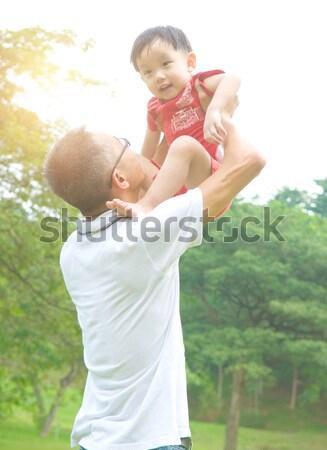 Asian famiglia padre giocare baby ragazzo Foto d'archivio © yongtick