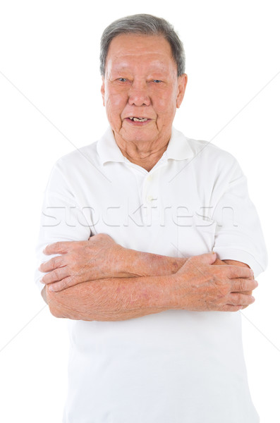 アジア シニア 男 成人 中国語 ストックフォト © yongtick