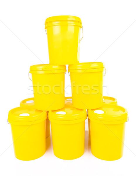 Foto d'archivio: Industriali · olio · lubrificante · prodotto · giallo · plastica