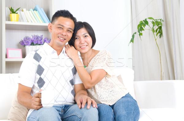 Stockfoto: Asian · paar · portret · man · vrouwelijke