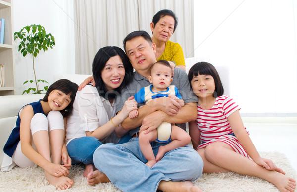 アジア 家族 美しい 世代 幸せ 母親 ストックフォト © yongtick