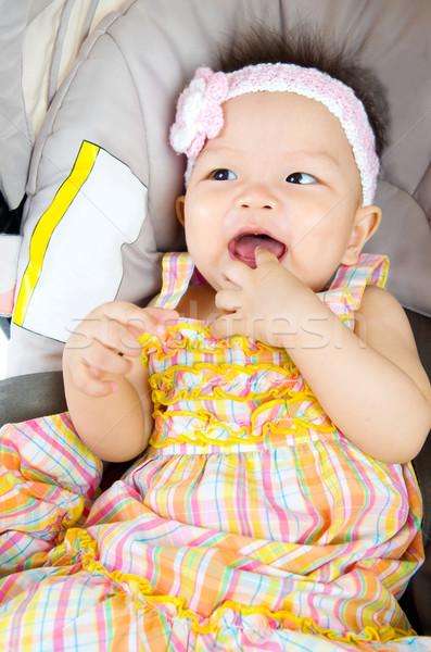 Asian baby girl Stock photo © yongtick