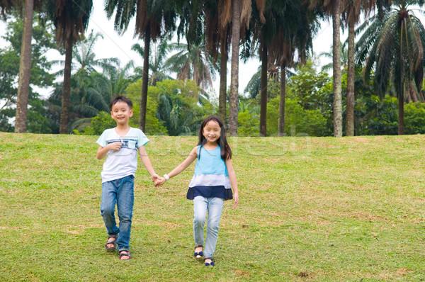 アジア 子供 子供 屋外 公園 ストックフォト © yongtick