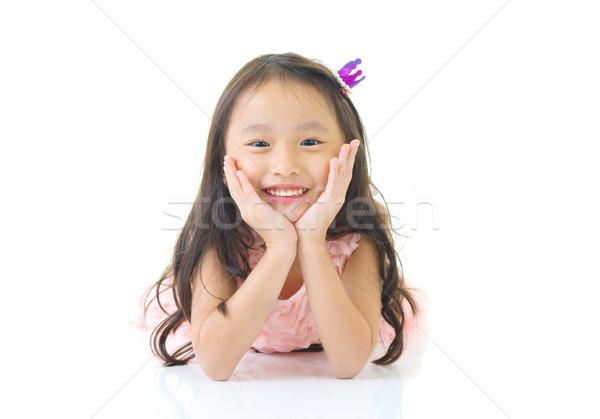 Asiático menina retrato criança chinês juventude Foto stock © yongtick