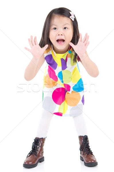 アジア 子供 興奮した 子 オープン ストックフォト © yongtick