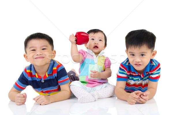 Asian kinderen portret familie race vrouwelijke Stockfoto © yongtick