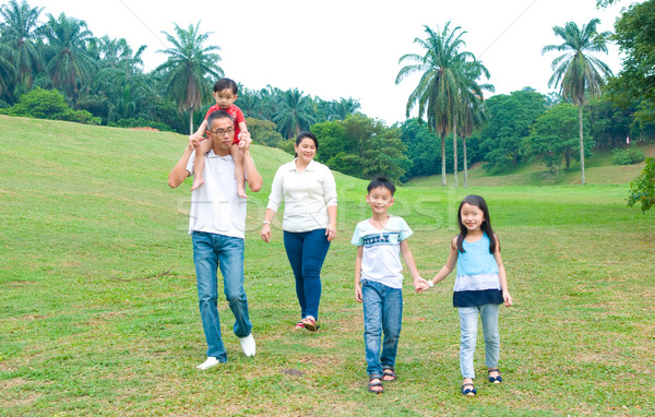 asian family  Stock photo © yongtick