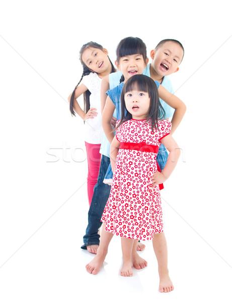 アジア 子供 肖像 家族 子 教育 ストックフォト © yongtick