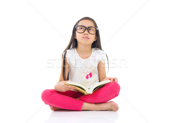 子 教育 アジア 少女 着用 眼鏡 ストックフォト © yongtick