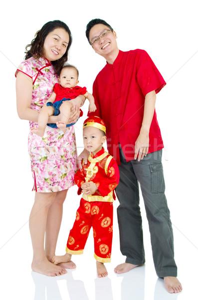 アジア 家族 を祝う 旧正月 少女 子供 ストックフォト © yongtick