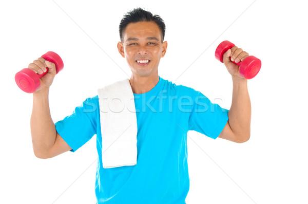 Asiático homem retrato fitness livre Foto stock © yongtick