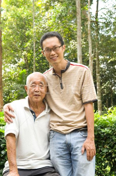 Asian family Stock photo © yongtick