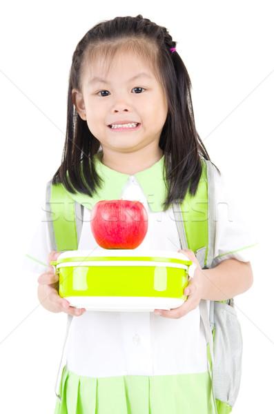 アジア 小学校 少女 ランチ ストックフォト © yongtick