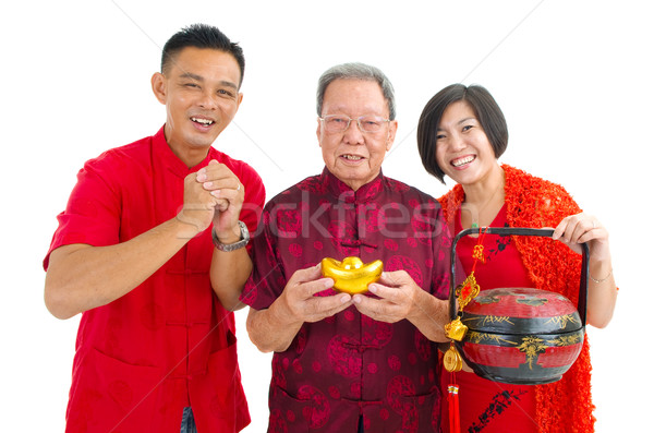 Сток-фото: азиатских · семьи · старший · человека · детей