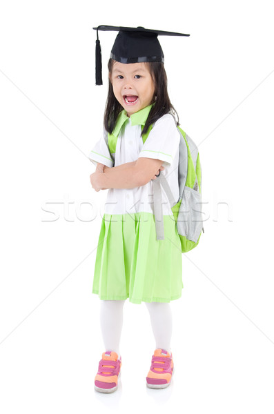 Asian school girl Stock photo © yongtick