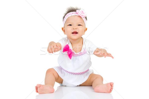 Asiático bebê belo menina corpo Foto stock © yongtick