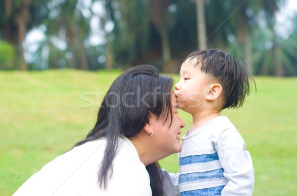 Asiático família mãe filho mulher criança Foto stock © yongtick
