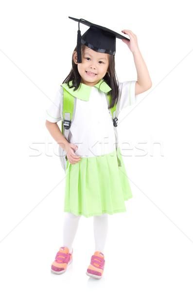 Asian primaire étudiant réalisée école Photo stock © yongtick