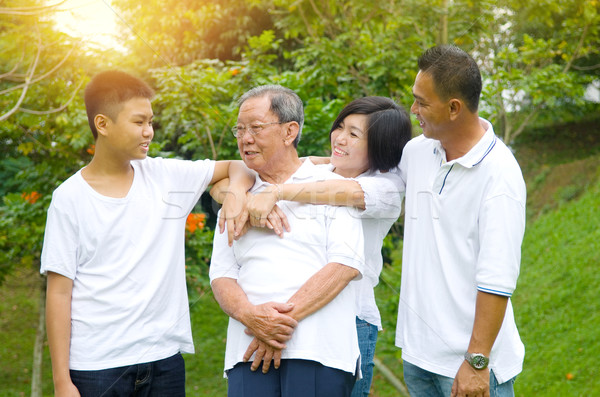 Asian three Generation Chinese Family Stock photo © yongtick