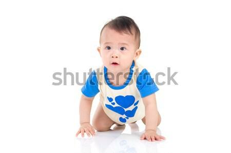 Asiático bebê belo menino criança Foto stock © yongtick