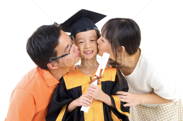 Graduation kid Stock photo © yongtick