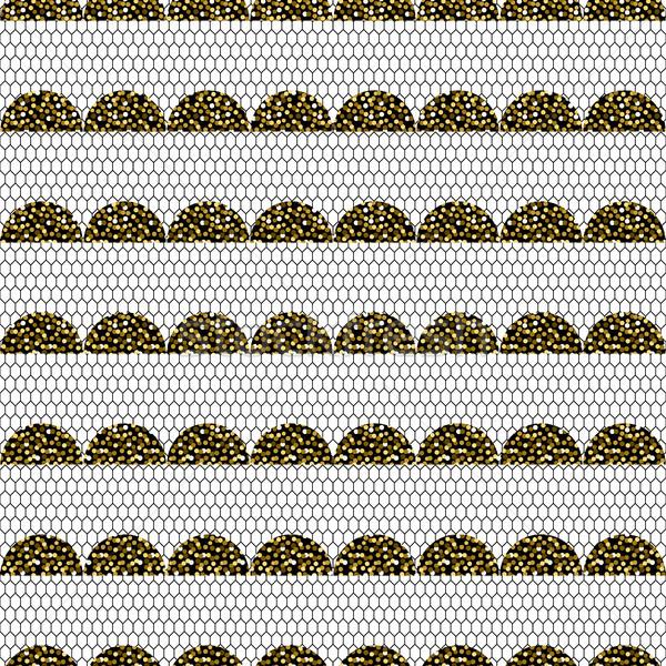 Abstract frill vector pattern. Stock photo © yopixart
