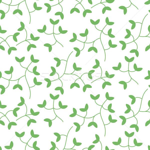 Denso minúsculo hojas sin costura vector patrón Foto stock © yopixart