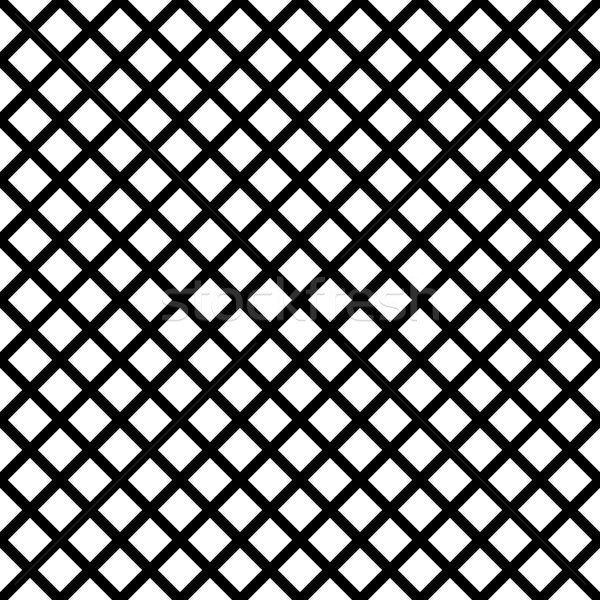 Chain-link geometric black on white seamless vector pattern. Stock photo © yopixart