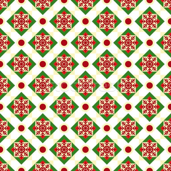 クリスマス 幾何学的な シームレス ベクトル パターン ストックフォト © yopixart