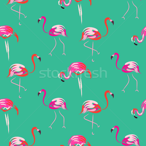 Roze flamingo vogel mint Stockfoto © yopixart