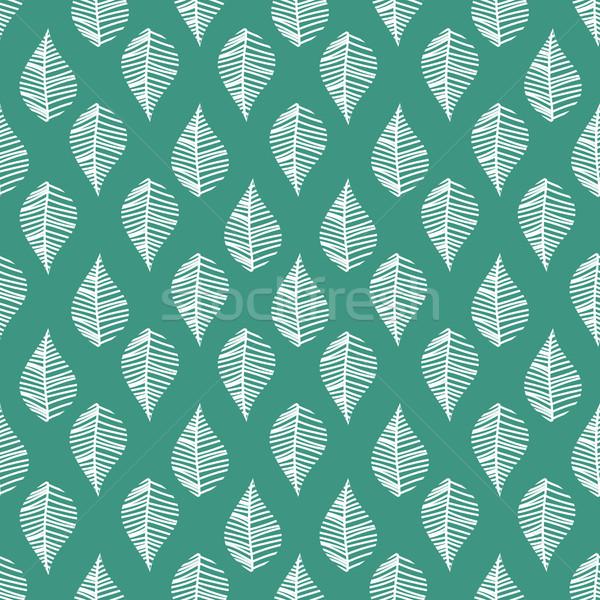 Abstract leaves seamless vector pattern. Stock photo © yopixart