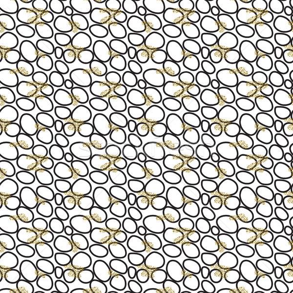 Abstract small black circles seamless pattern. Stock photo © yopixart