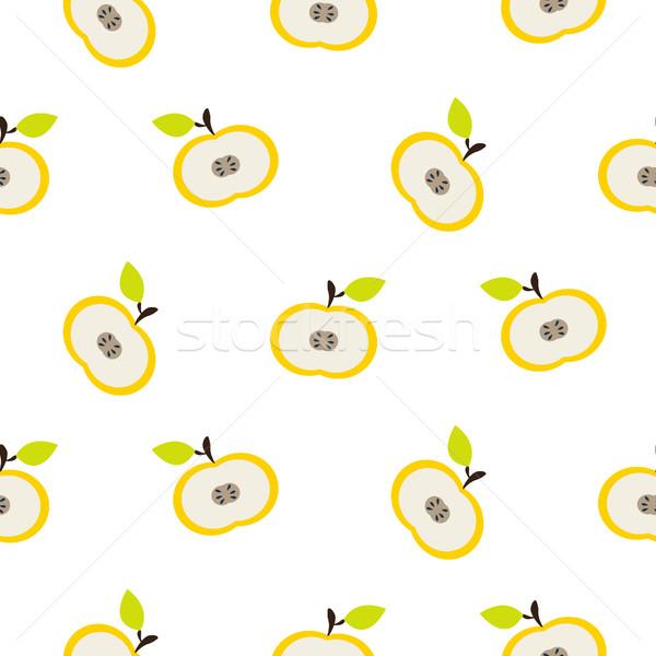 Simple apple fruit repeating pattern. Stock photo © yopixart