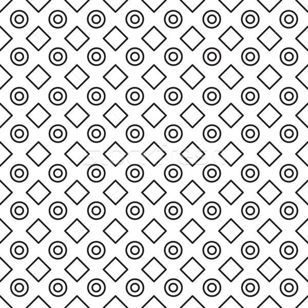 Geometrik siyah beyaz minimalist model vektör hat Stok fotoğraf © yopixart