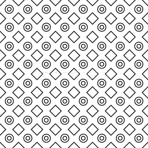 Geométrico preto e branco padrão vetor linha Foto stock © yopixart