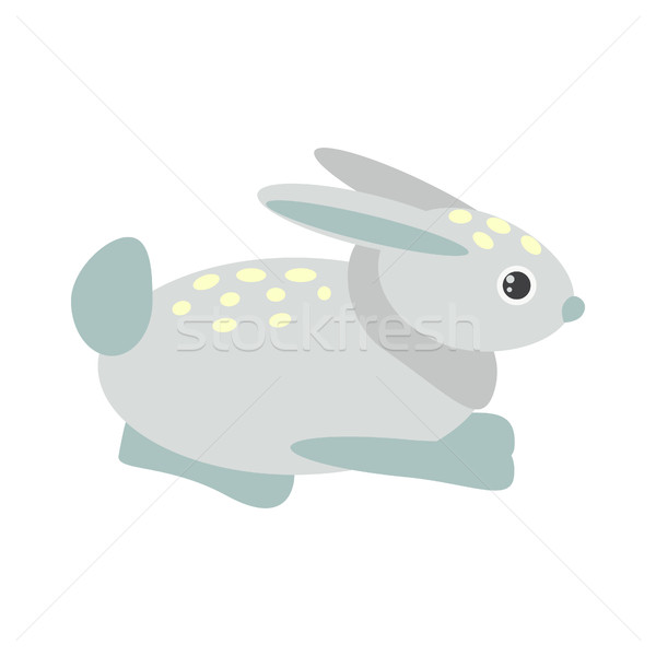 Cute синий Bunny Cartoon кролик характер Сток-фото © yopixart