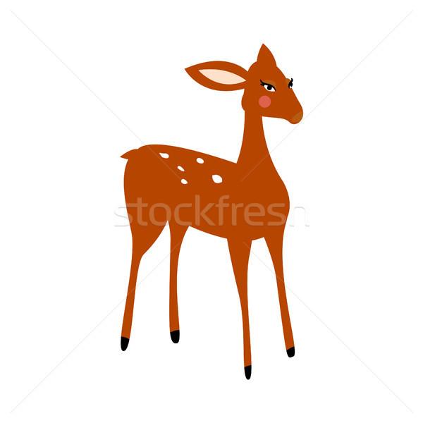 Deer cartoon vector isolated illustration. Stock photo © yopixart