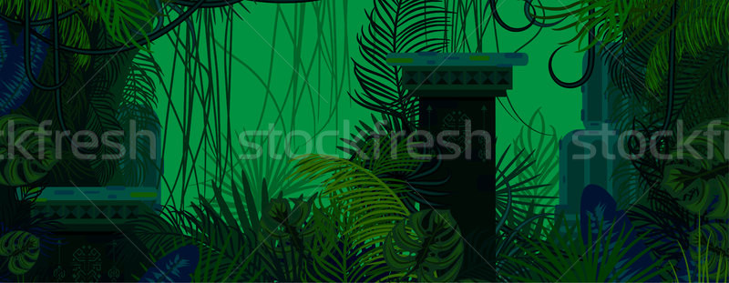 Exotic woods green wild nature background. Stock photo © yopixart