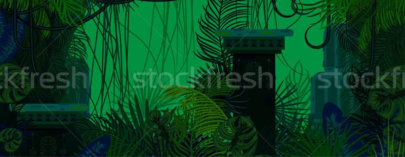 экзотический лесу зеленый природы плотный Сток-фото © yopixart