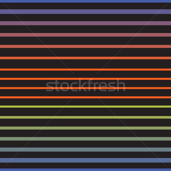Rainbow line horizontal seamless vector pattern. Stock photo © yopixart