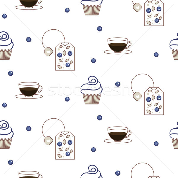 Stock photo: Vector tea package seamless pattern.