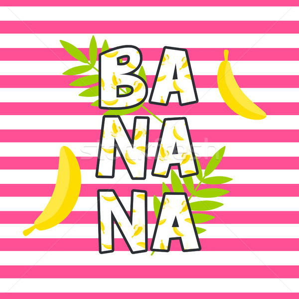 Banana tshirt projeto vetor imprimir listrado Foto stock © yopixart