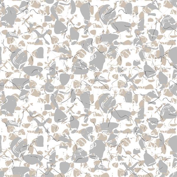 Kő végtelenített fehér vektor minta márvány Stock fotó © yopixart